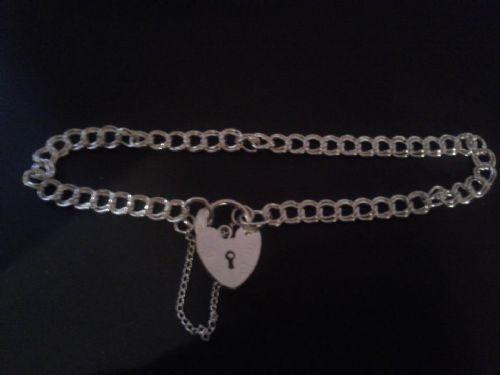 Bracelet with option to add any charm on a z curb bracelet solid sterling silver